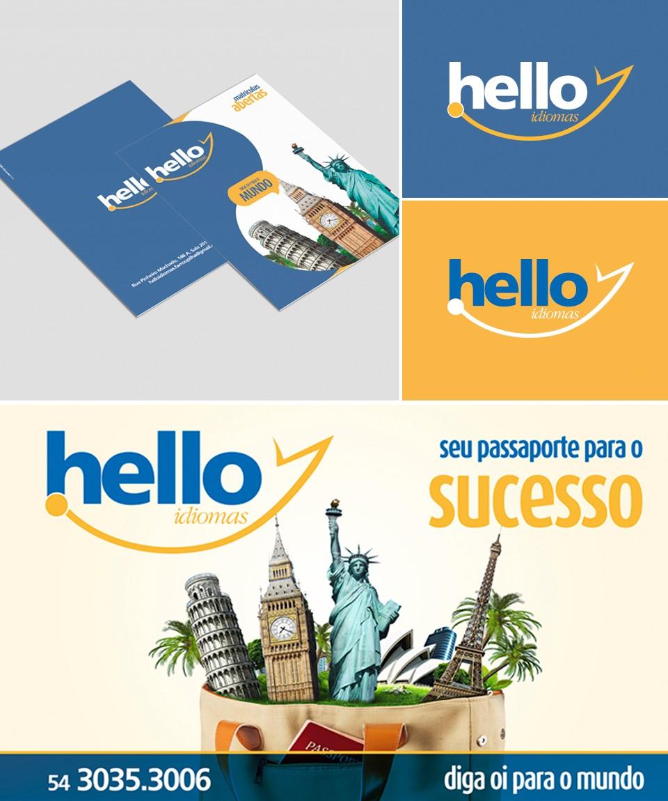 Hello Idiomas - Folder e Outdoor